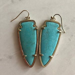 Kendra Scott Turquoise Arrowhead Earrings